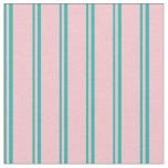 [ Thumbnail: Light Sea Green and Pink Colored Lines Fabric ]