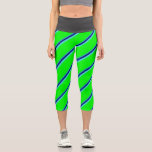 [ Thumbnail: Light Sea Green, Blue, Turquoise & Lime Colored Leggings ]