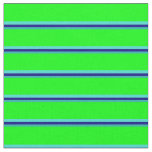 [ Thumbnail: Light Sea Green, Blue, Turquoise & Lime Colored Fabric ]