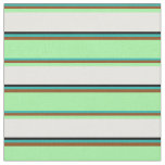 [ Thumbnail: Light Sea Green, Brown, Green, White & Black Fabric ]