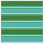 [ Thumbnail: Light Sea Green, Dark Green & Beige Colored Lines Fabric ]
