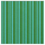 [ Thumbnail: Light Sea Green & Dark Green Colored Stripes Fabric ]
