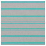 [ Thumbnail: Light Sea Green & Dark Grey Colored Pattern Fabric ]