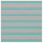 [ Thumbnail: Light Sea Green & Dark Grey Colored Pattern Fabric ]