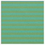 [ Thumbnail: Light Sea Green & Green Colored Stripes Pattern Fabric ]
