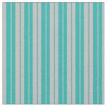 [ Thumbnail: Light Sea Green & Grey Colored Pattern Fabric ]