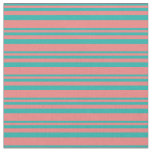 [ Thumbnail: Light Sea Green & Light Coral Colored Lines Fabric ]