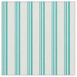 [ Thumbnail: Light Sea Green & Light Cyan Colored Stripes Fabric ]