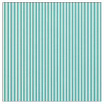 [ Thumbnail: Light Sea Green & Light Cyan Lines Fabric ]