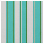 [ Thumbnail: Light Sea Green, Light Gray, and Dark Green Lines Fabric ]