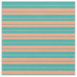 [ Thumbnail: Light Sea Green & Light Salmon Colored Pattern Fabric ]