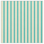 [ Thumbnail: Light Sea Green & Pale Goldenrod Colored Pattern Fabric ]