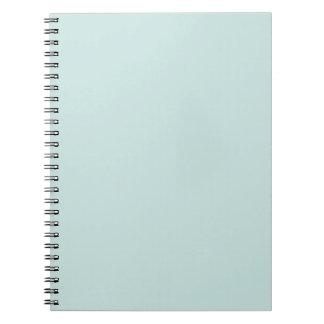 Light Seafoam Blue Sea Foam Green Color Trend Spiral Notebook