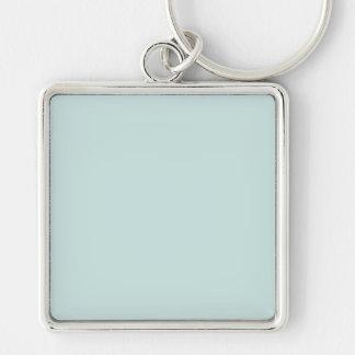 Light Seafoam Blue Sea Foam Green Color Trend Silver-Colored Square Keychain