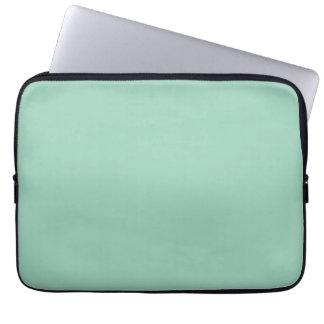 Light Seafoam Green Fashion Color Trend Sea Foam Laptop Sleeves