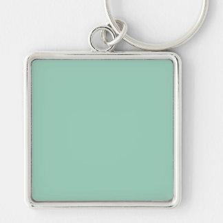 Light Seafoam Green Sea Foam Color Trend Template Silver-Colored Square Keychain