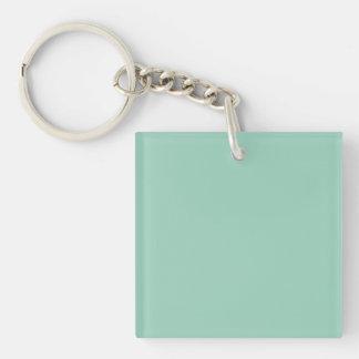 Light Seafoam Green Sea Foam Color Trend Template Single-Sided Square Acrylic Keychain