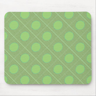Light Shade Green Dot Theme Mouse Pad