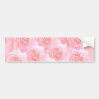 Light Shade Red Rose Bouquet Bumper Sticker