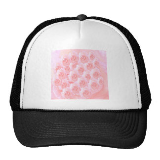 Light Shade Red Rose Bouquet Hat