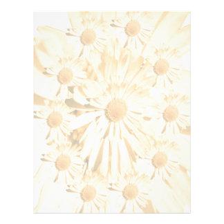 Light shade Sunflower Spread Letterhead