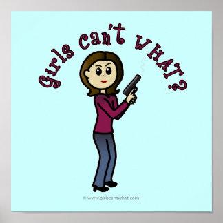 Light Sharpshooter Girl Poster