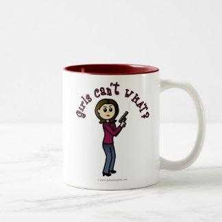 Light Sharpshooter Girl Two-Tone Coffee Mug