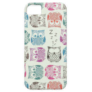 light sherbet owls iPhone 5 cases