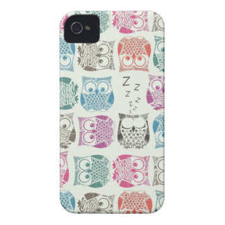 light sherbet owls iPhone 4 Case-Mate case