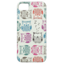 light sherbet owls iPhone SE/5/5s case