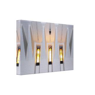 Light shining through Church Windows design Canvas Print