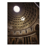Light shining through oculus in The Pantheon in Post Card