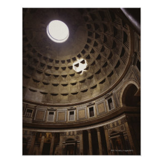 Light shining through oculus in The Pantheon in Poster