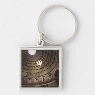 Light shining through oculus in The Pantheon in Silver-Colored Square Keychain
