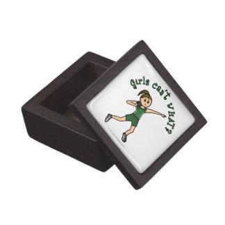 Light Shot Put Girl in Green Uniform Premium Trinket Box