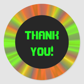 Light Show Fractal Art Thank You Classic Round Sticker