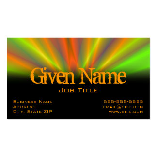 Light Show Profile Card Double-Sided Standard Business Cards (Pack Of 100)