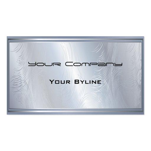 Light  Silver Textured  Business Card