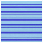 [ Thumbnail: Light Sky Blue and Blue Colored Pattern Fabric ]