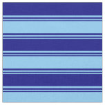 [ Thumbnail: Light Sky Blue and Blue Lined/Striped Pattern Fabric ]