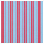 [ Thumbnail: Light Sky Blue and Crimson Colored Lines Pattern Fabric ]