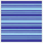 [ Thumbnail: Light Sky Blue and Dark Blue Colored Stripes Fabric ]
