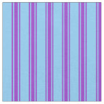 [ Thumbnail: Light Sky Blue and Dark Orchid Colored Pattern Fabric ]