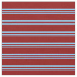 [ Thumbnail: Light Sky Blue and Dark Red Colored Pattern Fabric ]