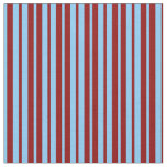 [ Thumbnail: Light Sky Blue and Dark Red Striped Pattern Fabric ]