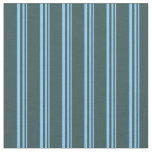 [ Thumbnail: Light Sky Blue and Dark Slate Gray Lines Fabric ]