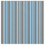 [ Thumbnail: Light Sky Blue and Dim Gray Striped Pattern Fabric ]