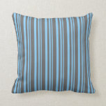 [ Thumbnail: Light Sky Blue and Dim Grey Colored Pattern Pillow ]