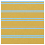 [ Thumbnail: Light Sky Blue and Goldenrod Colored Pattern Fabric ]