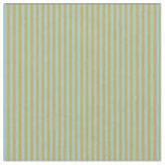 [ Thumbnail: Light Sky Blue and Goldenrod Colored Stripes Fabric ]